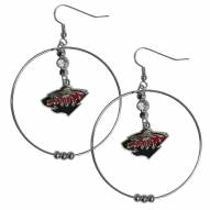 "Minnesota Wild 2"" Hoop Earrings"