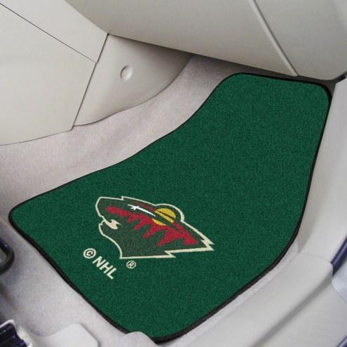 Minnesota Wild 2-Piece Carpet Car Mats