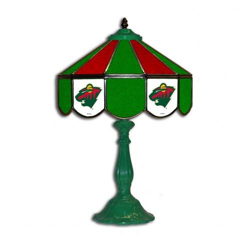 "Minnesota Wild 21"" Glass Table Lamp"
