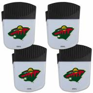 Minnesota Wild 4 Pack Chip Clip Magnet with Bottle Opener