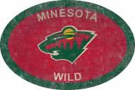 "Minnesota Wild 46"" Team Color Oval Sign"