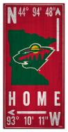 "Minnesota Wild 6"" x 12"" Coordinates Sign"