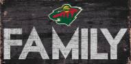 "Minnesota Wild 6"" x 12"" Family Sign"