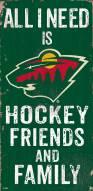 "Minnesota Wild 6"" x 12"" Friends & Family Sign"