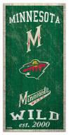 "Minnesota Wild 6"" x 12"" Heritage Sign"