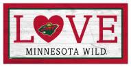 "Minnesota Wild 6"" x 12"" Love Sign"