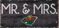 "Minnesota Wild 6"" x 12"" Mr. & Mrs. Sign"