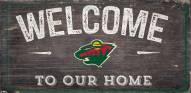 "Minnesota Wild 6"" x 12"" Welcome Sign"