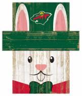 "Minnesota Wild 6"" x 5"" Easter Bunny Head"