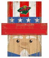 "Minnesota Wild 6"" x 5"" Patriotic Head"