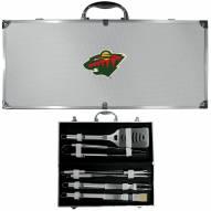 Minnesota Wild 8 Piece Stainless Steel BBQ Set w/Metal Case