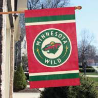 Minnesota Wild Applique Banner Flag