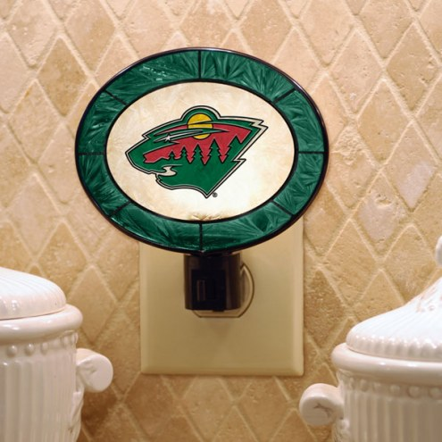 Minnesota Wild Art Glass Night Light