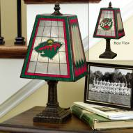 Minnesota Wild Art Glass Table Lamp