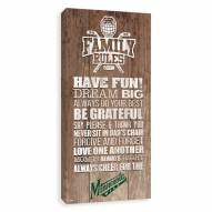 Minnesota Wild Family Rules Icon Wood Printed Canvas