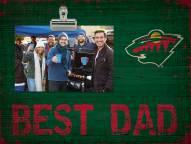 Minnesota Wild Best Dad Clip Frame