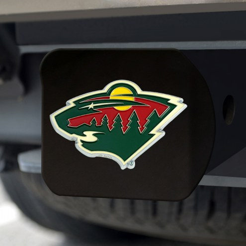 Minnesota Wild Black Color Hitch Cover