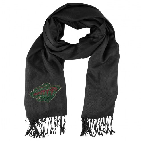 Minnesota Wild Black Pashi Fan Scarf
