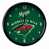 Minnesota Wild Black Rim Clock