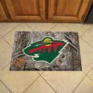 Minnesota Wild Camo Scraper Door Mat