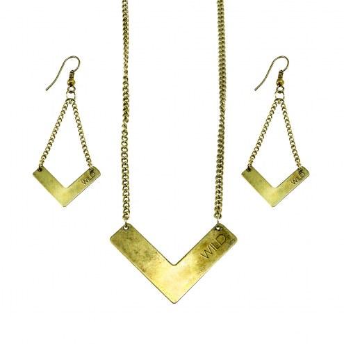 Minnesota Wild Chevron Jewelry Set