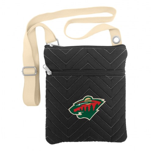 Minnesota Wild Chevron Stitch Crossbody Bag