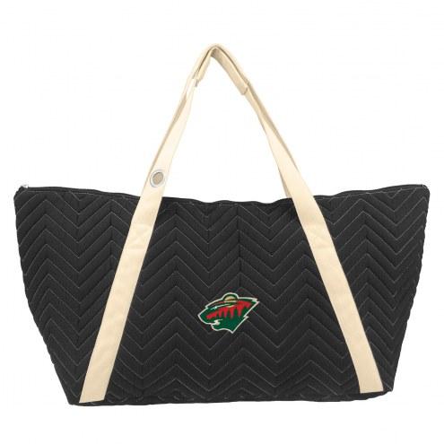 Minnesota Wild Chevron Stitch Weekender Bag