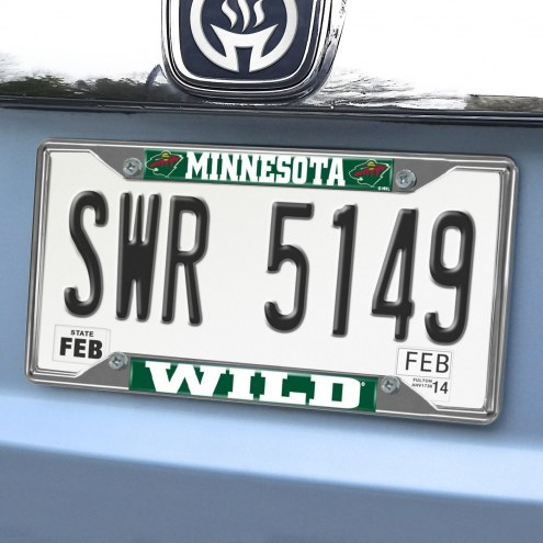 Minnesota Wild Chrome Metal License Plate Frame