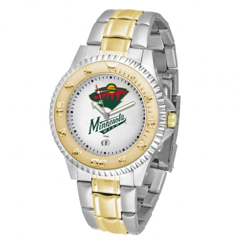 Minnesota Wild Competitor Two-Tone Men's Watch