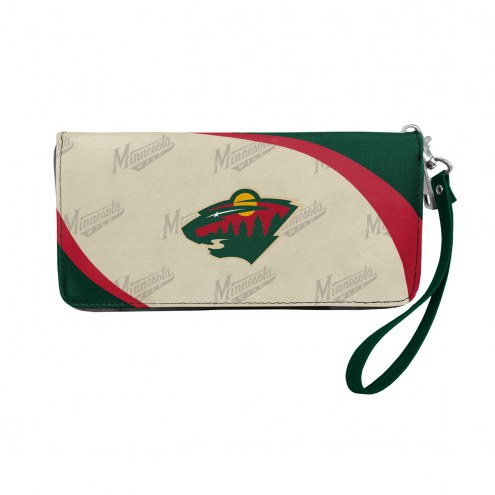 Minnesota Wild Curve Zip Organizer Wallet