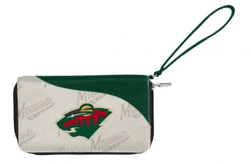 Minnesota Wild Curve Zip Wallet