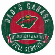Minnesota Wild Dad's Garage Sign