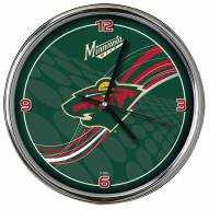 Minnesota Wild Dynamic Chrome Clock