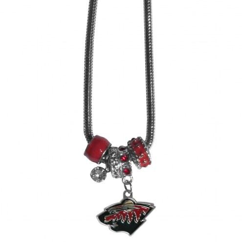 Minnesota Wild Euro Bead Necklace
