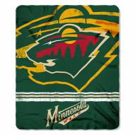 Minnesota Wild Fade Away Fleece Blanket