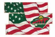 Minnesota Wild Flag 3 Plank Sign