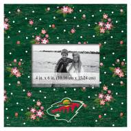 """Minnesota Wild Floral 10"""" x 10"""" Picture Frame"""