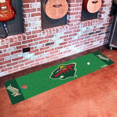 Minnesota Wild Golf Putting Green Mat