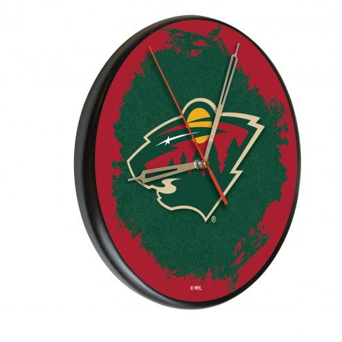 Minnesota Wild Digitally Printed Wood Clock