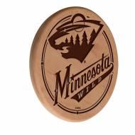 Minnesota Wild Laser Engraved Wood Sign