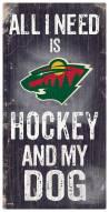 Minnesota Wild Hockey & My Dog Sign