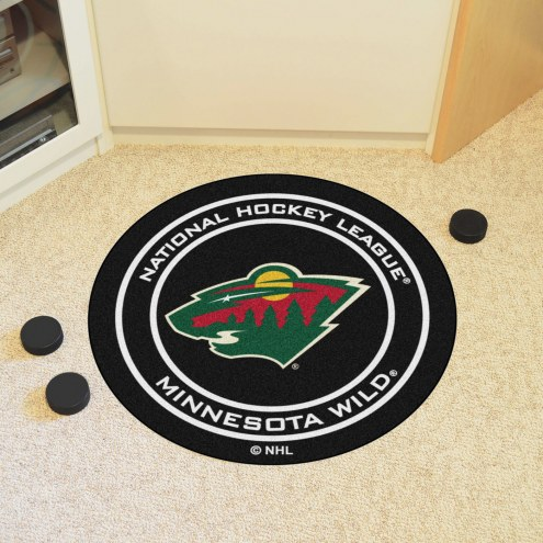 Minnesota Wild Hockey Puck Mat