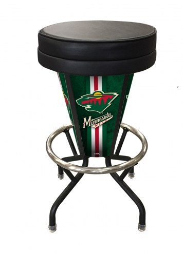 Minnesota Wild Indoor/Outdoor Lighted Bar Stool