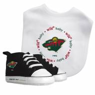 Minnesota Wild Infant Bib & Shoes Gift Set