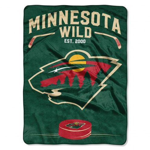 Minnesota Wild Inspired Plush Raschel Blanket