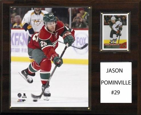 "Minnesota Wild Jason Pominville 12"" x 15"" Player Plaque"