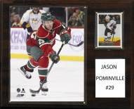 "Minnesota Wild Jason Pominville 12"" x 15"" Player Plaque"