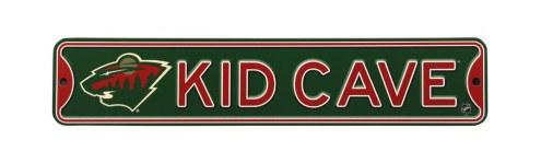Minnesota Wild Kid Cave Street Sign
