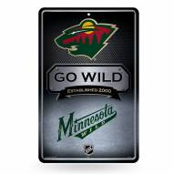 Minnesota Wild Large Embossed Metal Wall Sign