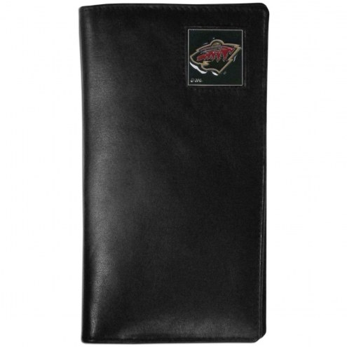 Minnesota Wild Leather Tall Wallet